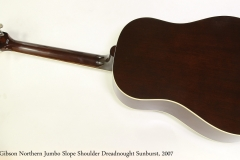 Gibson Northern Jumbo Slope Shoulder Dreadnought Sunburst, 2007  Full Rear View