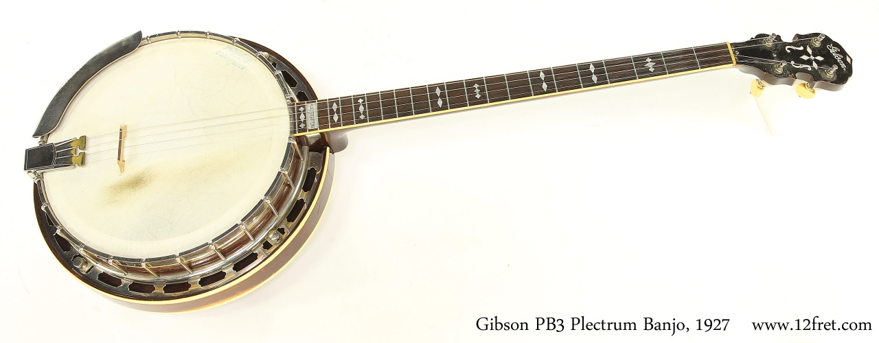 Gibson PB3 Plectrum Banjo, 1927   Full Front View