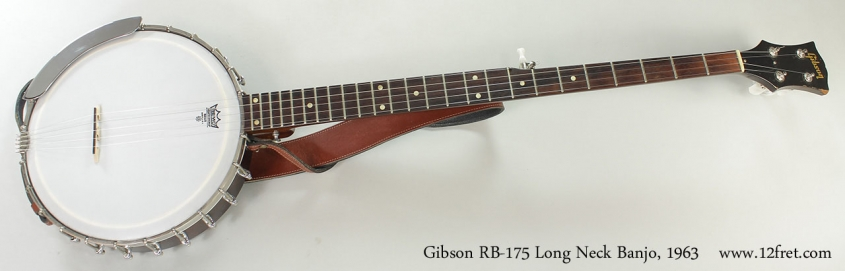 Gibson RB-175 Long Neck Banjo, 1963 Full Front VIew