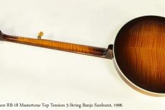 Gibson RB-18 Mastertone Top Tension 5-String Banjo Sunburst, 1996 Full Rear View