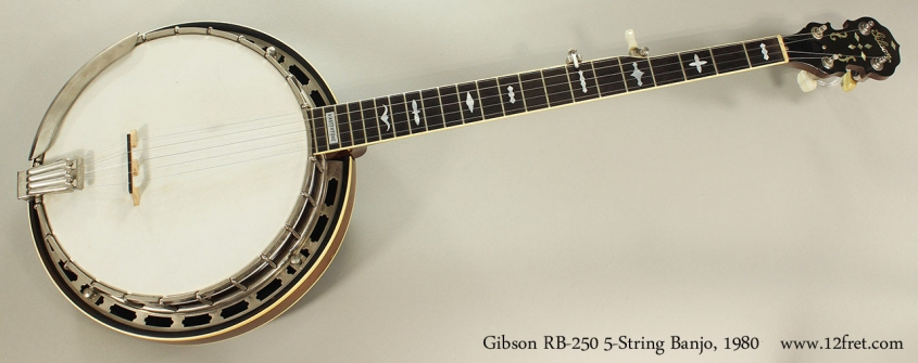 Gibson RB-250 5-String Banjo, 1980 Full Front View
