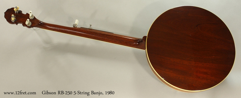 Gibson RB-250 5-String Banjo, 1980 Full Rear View