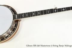 Gibson RB-250 Mastertone 5-String Banjo Mahogany, 1998  Full Front View