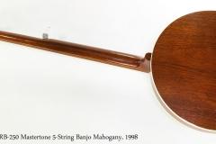 Gibson RB-250 Mastertone 5-String Banjo Mahogany, 1998   Full Rear View