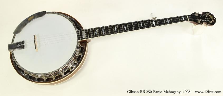 Gibson RB-250 Banjo Mahogany, 1998   Full Front VIew