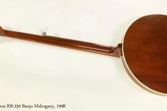 Gibson RB-250 Banjo Mahogany, 1998   Full Rear View
