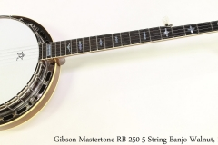 Gibson Mastertone RB 250 5 String Banjo Walnut, 1975 Full Front View