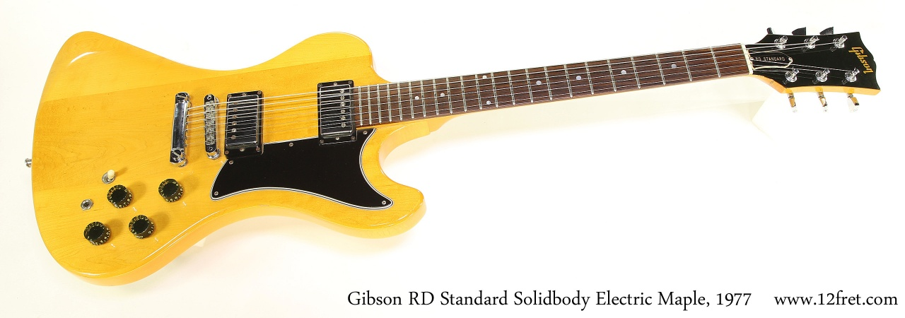 Gibson RD Standard Solidbody Electric Maple, 1977 Full Front View