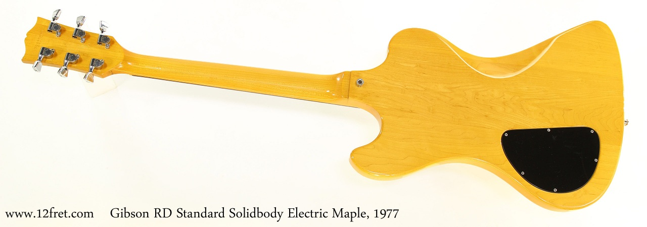 Gibson RD Standard Solidbody Electric Maple, 1977 Full Rear View