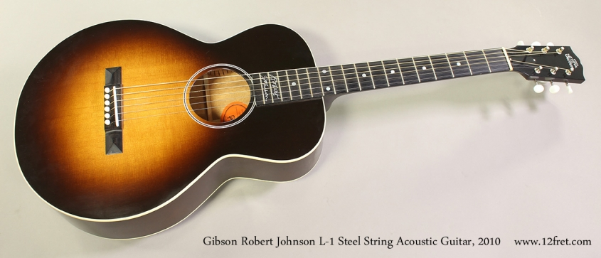 Gibson Robert Johnson L-1 Steel String Acoustic Guitar, 2010 Full Front View