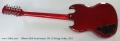 Gibson 50th Anniversary SG 12-String Guitar, 2011 Full Rear View