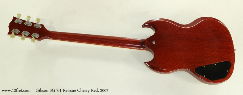 Gibson SG '61 Reissue Cherry Red, 2007  Full Rear View
