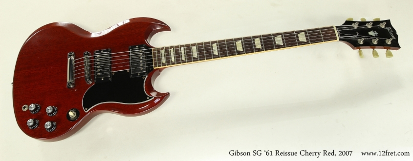 Gibson SG '61 Reissue Cherry Red, 2007  Full Front View