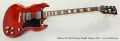 Gibson SG 1961 Reissue Model Guitar, 2012 Full Front View