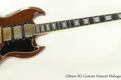 Gibson SG Custom Natural Mahogany, 1974 Full Front View