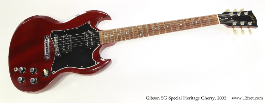 Gibson SG Special Heritage Cherry, 2002   Full Front View