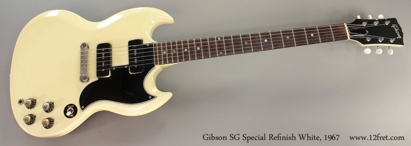 Gibson SG Special Refinish White, 1967 full front view