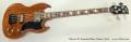 Gibson SG Standard Bass Guitar, 2014 Full Front View