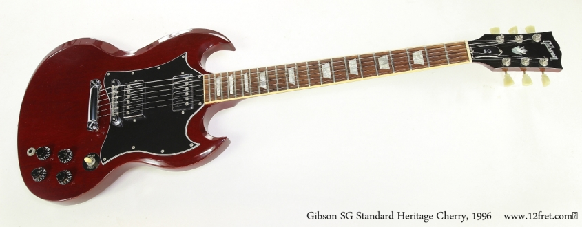 Gibson SG Standard Heritage Cherry, 1996   Full Front View