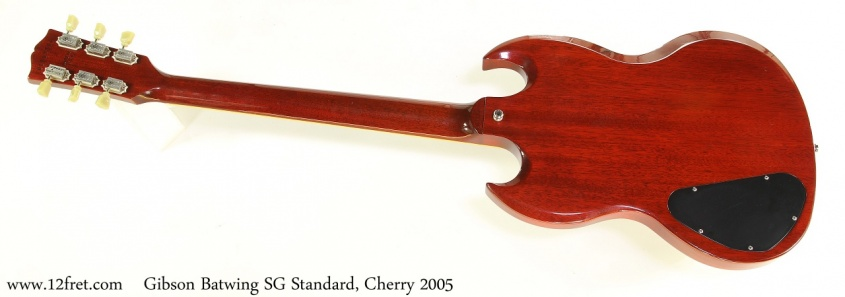 Gibson Batwing SG Standard, Cherry 2005 Full Rear View
