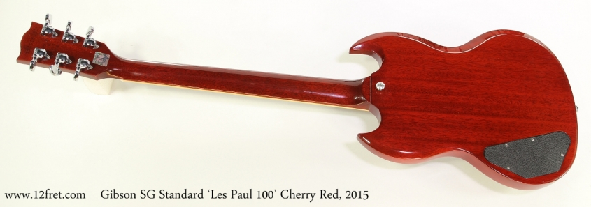 Gibson SG Standard 'Les Paul 100' Cherry Red, 2015  Full Rear View