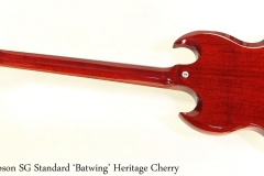 Gibson SG Standard 'Batwing' Heritage Cherry Full Rear View