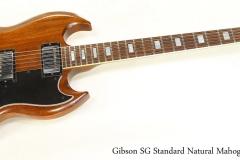 Gibson SG Standard Natural Mahogany,  1977   Full Front View