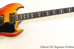 Gibson SG Supreme Fireburst, 2002 Full Front View