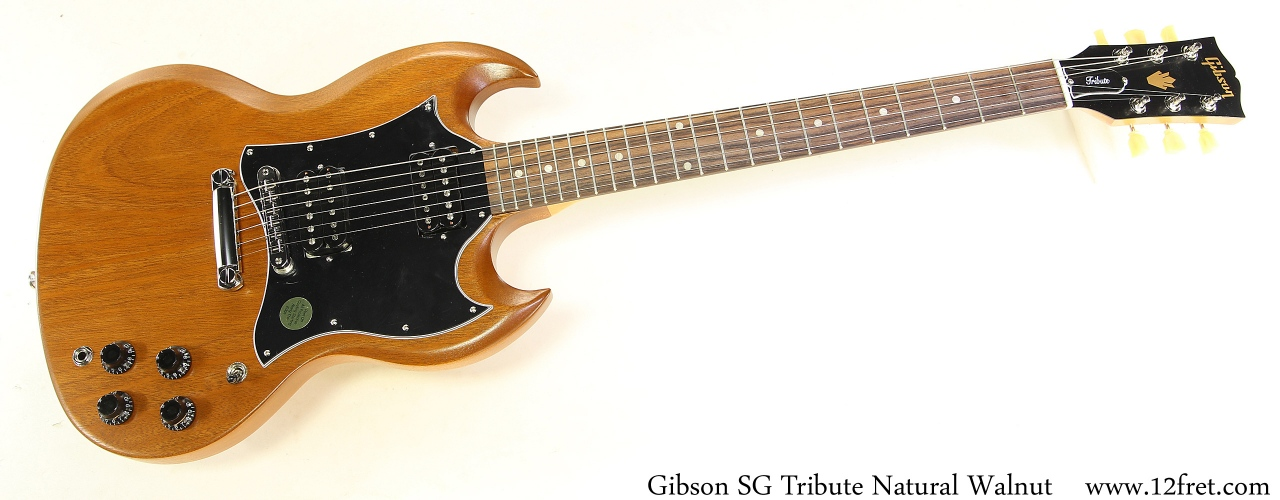 Gibson SG Tribute Natural Walnut Full Rear View