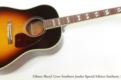 Gibson Sheryl Crow Southern Jumbo Special Edition Sunburst, 2012  Full Front View