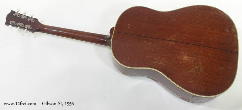 Gibson SJ Acoustic 1956 full rear view
