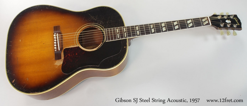 Gibson SJ Steel String Acoustic, 1957 Full Front View