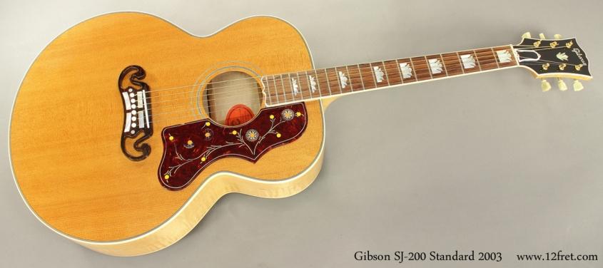 Gibson SJ 200 Standard 2003 full front view