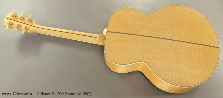 Gibson SJ 200 Standard 2003 full rear view