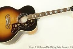 Gibson SJ-200 Standard Steel String Guitar Sunburst, 2015  Full Front View