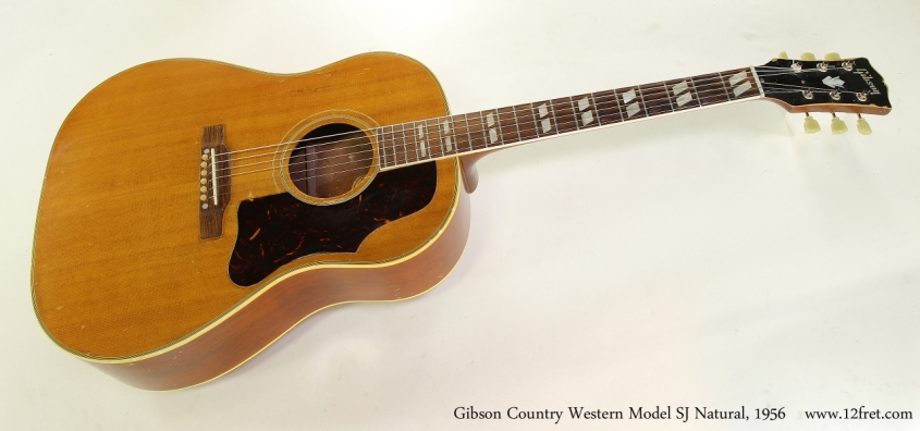 Gibson Country Western Model SJ Natural, 1956 Full Front View