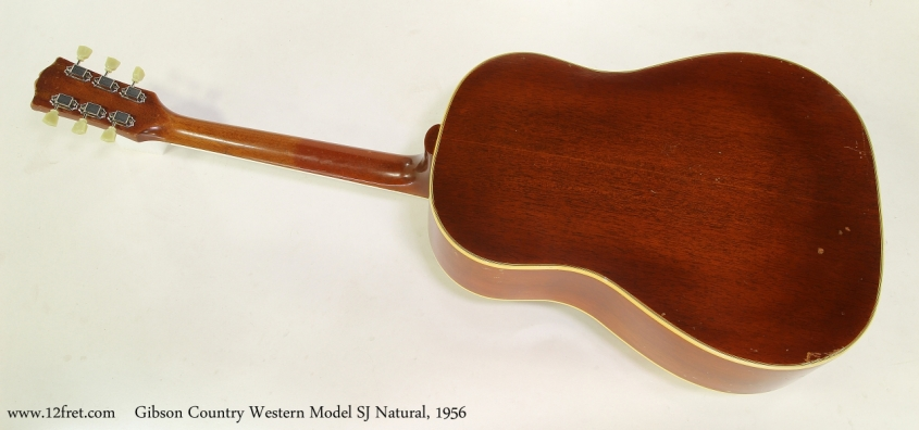 Gibson Country Western Model SJ Natural, 1956 Full Rear View