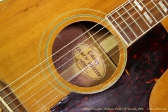Gibson Country Western Model SJ Natural, 1956 Label View