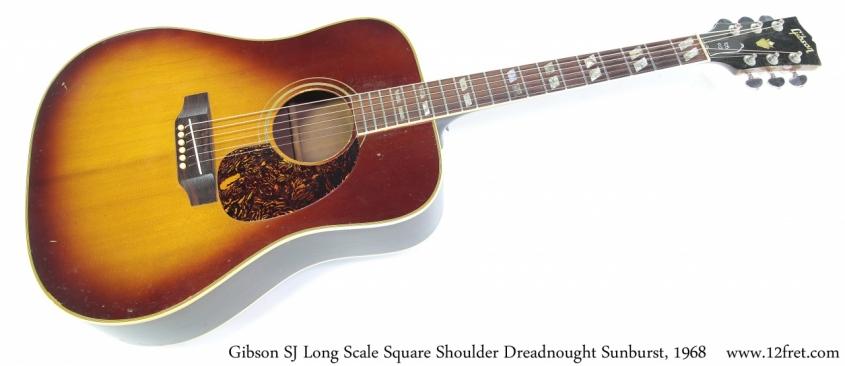 Gibson SJ Long Scale Square Shoulder Dreadnought Sunburst, 1968 Full Front View
