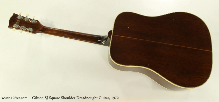 Gibson SJ Square Shoulder Dreadnought Guitar, 1972  Full Rear View