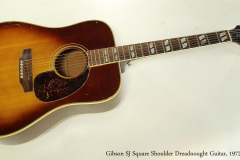 Gibson SJ Square Shoulder Dreadnought Guitar, 1972  Full Front View