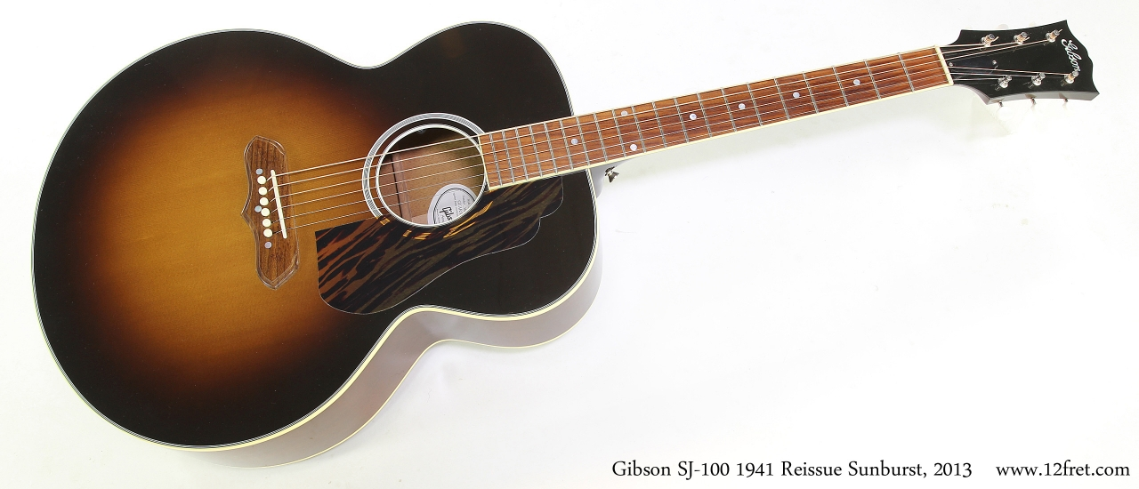 Gibson SJ-100 1941 Reissue Sunburst, 2013   Full Front View