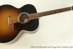 Gibson SJ-100 Jumbo Steel String Guitar Sunburst, 2013  Full Front View