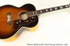 Gibson SJ200 Jumbo Steel String Sunburst, 1951 Full Front View