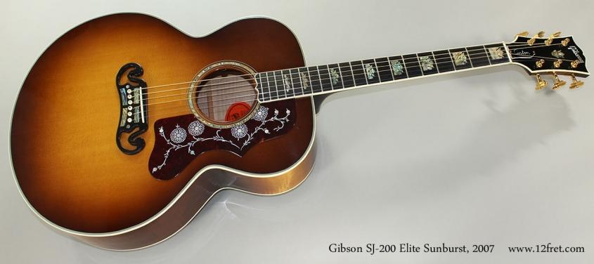 Gibson SJ-200 Elite Sunburst Steel String Acoustic, 2007 Full Front View