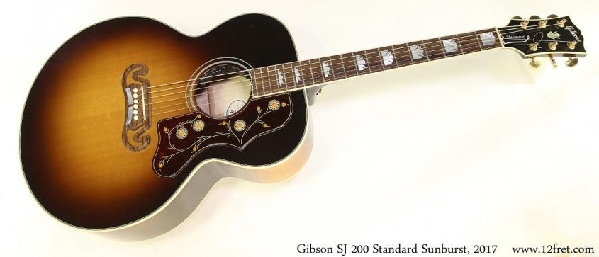 Gibson SJ 200 Standard Sunburst, 2017 Full Front View