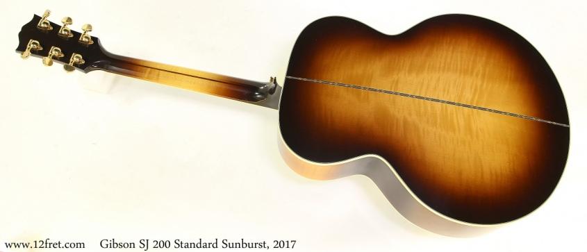 Gibson SJ 200 Standard Sunburst, 2017 Full Rear View
