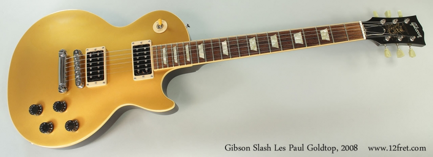 Gibson Slash Les Paul Goldtop, 2008 Full Front View