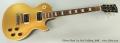 Gibson Slash Les Paul Goldtop, 2008 Full Front View