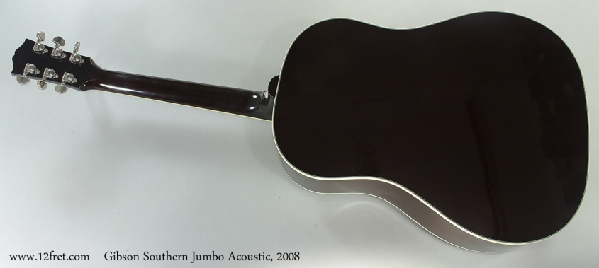 Gibson Southern Jumbo Acoustic, 2008 Full Rear View